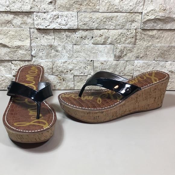 361352e01 Sam Edelman Wedge Platform Romy Black Flip Sandals.  M 5a4bec2931a3762fb309971b